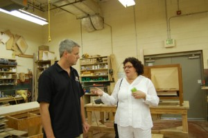 Me at the fine woodworking division of New Energy Works